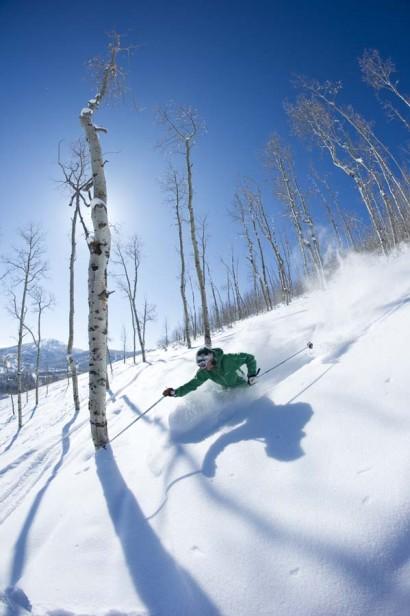 Skier, Park City, Utah.