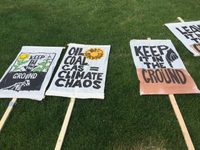 Keep it in the ground posters