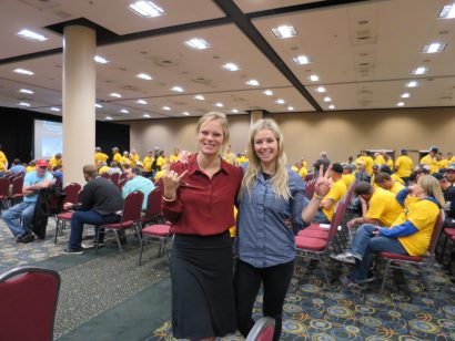 Angel Collinson and Caroline Gleich at BLM Coal Program Public Meeting